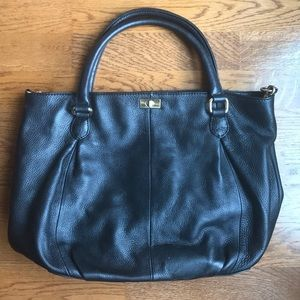 J.CREW black leather tote bag ✨